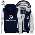 USA size Men Women Anime The Game OW Jacket Sweatshirts Thicken Hoodie Coat