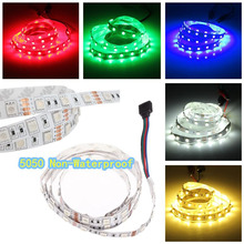 Buy SMD 5050 DC 12V 5M 300LEDs Waterproof Single Color RGB LED Strip Flexible Light Neon Lamp Tiras LED Light Garland for $4.27 in AliExpress store