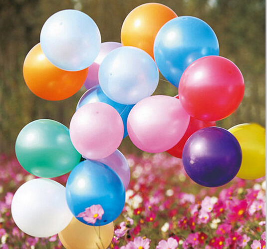 Mix color 50pcs lot 10inch1.2g Latex balloon Pearl balloons for Weddingamp;Birthday PartyBalloon kid toys