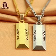 Buy Cube Bar Bullion Necklace & Pendant Fashion golden Star Men Hip Hop Dance Charm Franco Chain Hiphop Golden Jewelry for $2.00 in AliExpress store