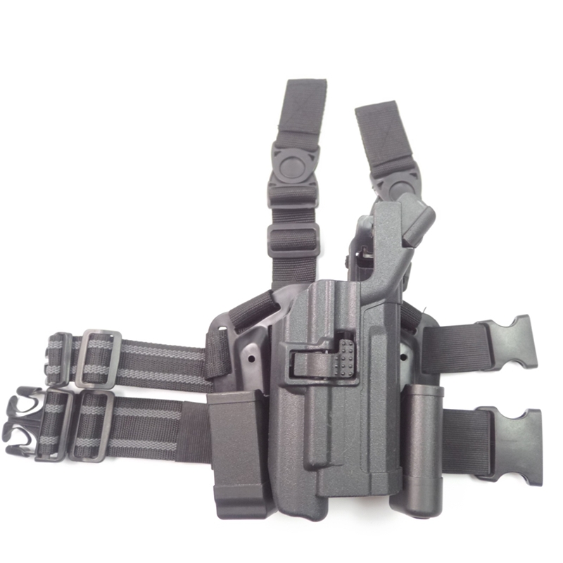 BLACKHAWK! Level 3 Light Bearing Tactical Holster for Xiphos NT Light leg holster fit for USP(China (Mainland))