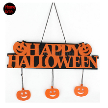 Halloween Decoration HAPPY HALLOWEEN Hanging Hangtag Halloween Window Decoration Halloween Pumpkin Hanging Strips HW057(China (Mainland))