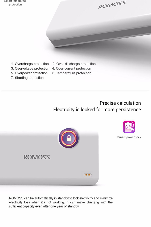 ROMOSS Sense9 25000mAh External Battery Power Bank 3 USB Charging Port for iPhone Xiaomi iphone X 7 plus Sense 9 powerbank