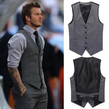 New British style Men's Fashion Joker Trend Waistcoat Leisure Suit Vest HB88(China (Mainland))