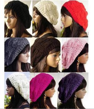 Women Men Unisex Knitted Winter Cap Casual Beanies Solid Color Hip-hop Snap Slouch Skullies Bonnet beanie Gorro Hats for women