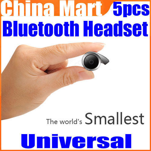 WOOWI BTEC018 Smallest Wireless Pro Universal HD Bluetooth Headset Dual Standby 5pcs/lot Free Express