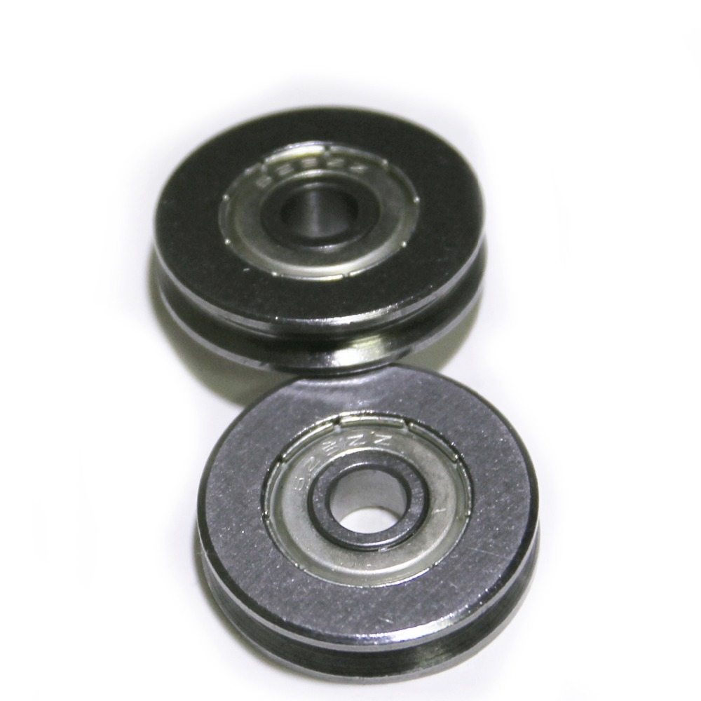 High quality Bearing Steel V Groved Wire Pulley Wheels Roller Deep Groove Ball Bearing , 5*22 *5mm , 5 pcs(China (Mainland))