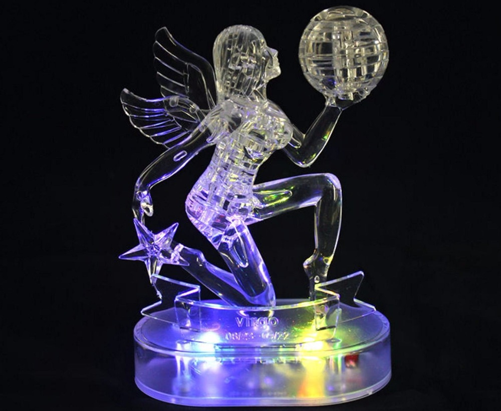 Virgo Crystal Puzzles 3D Jigsaw Model DIY Toy Xmas Gift By Complete store(China (Mainland))