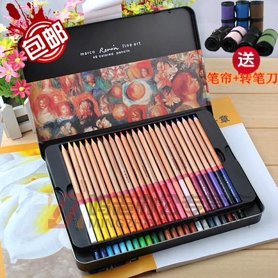 Marco marco 3100 - 48tn top iron colored pencil oil color boxed 48 stationery office school supplies