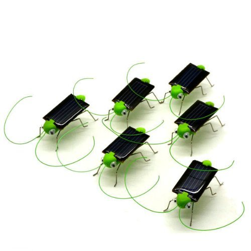 5 Pcs Solar Powered Grasshopper Great Solar Toy for Children or Decoration(China (Mainland))