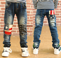 Hurave 2017 New childrens casual jeans suit autumn and spring baby boys jeans kids trousers