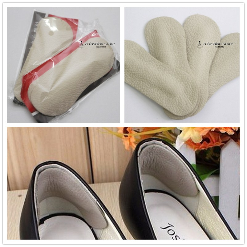 4pcs Shoes Back High Heels Leather Cushion Pad Protector Insoles Liner tacones Foot Care Free Shipping(China (Mainland))