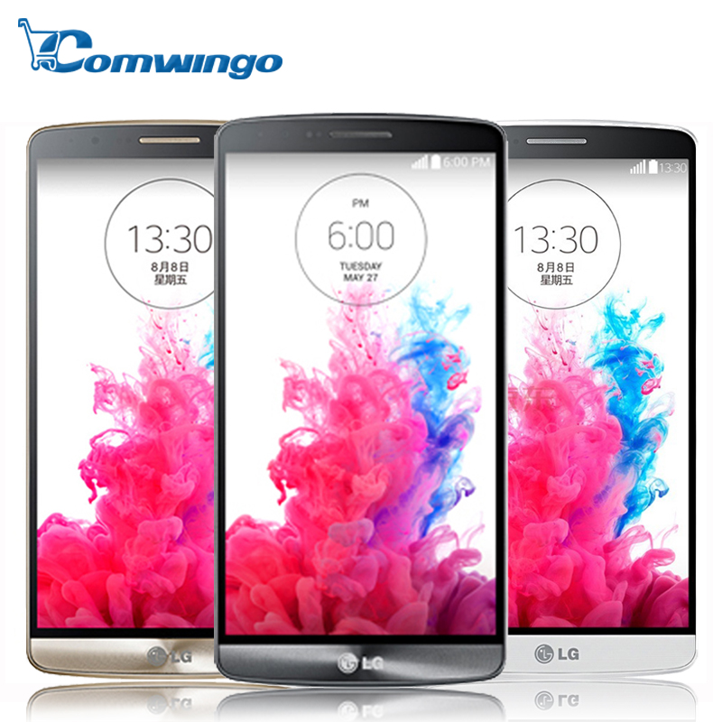 F400/D855 Original LG G3 mobile phone 3GB RAM 32GB ROM Quad Core 4G LTE 5.5'' 2560*1440PX 2K Screen Android 13.0MP OIS