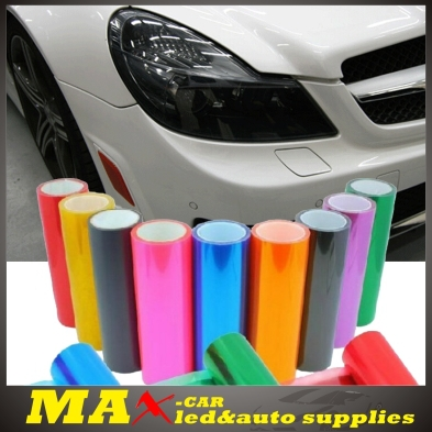 Hot Sale Car styling 30cm*1m Translucent Auto Film PVC Car Sticker For Head Light Tail Lights motorcycle Sticker On Car covers(China (Mainland))