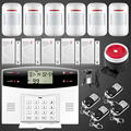 Fuers GSM PSTN Home security Alarm systems with LCD Keyboard Wireless GSM Alarm System Remote Control