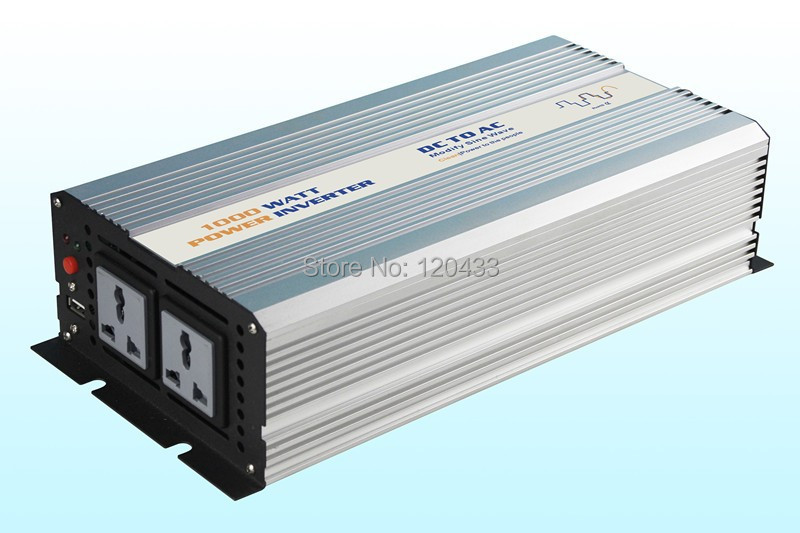 Solar power inverter 1000W 24V to 110V 60Hz pure sine wave 5V1500mA USB port(China (Mainland))