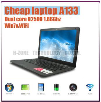 Freeshipping to Russian+ 13.3 inch laptop + Intel Atom D2500 dual-core 1.86Ghz +2G RAM&320G HDD +Russian Keyboard and Win7 OS
