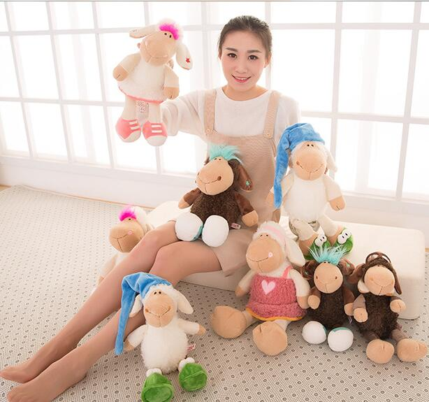 Hot New High Quality About 40cm Nici Amy Jolly Mah Sheep Plush Toy Birthday Valentine's Day Gift Children's Day Present 1pcs(China (Mainland))