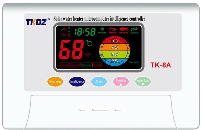 Compact Pressurized Solar Water Heater Controller TK-8A, Solar Controller TK-8A for integrated pressurized solar heating system(China (Mainland))