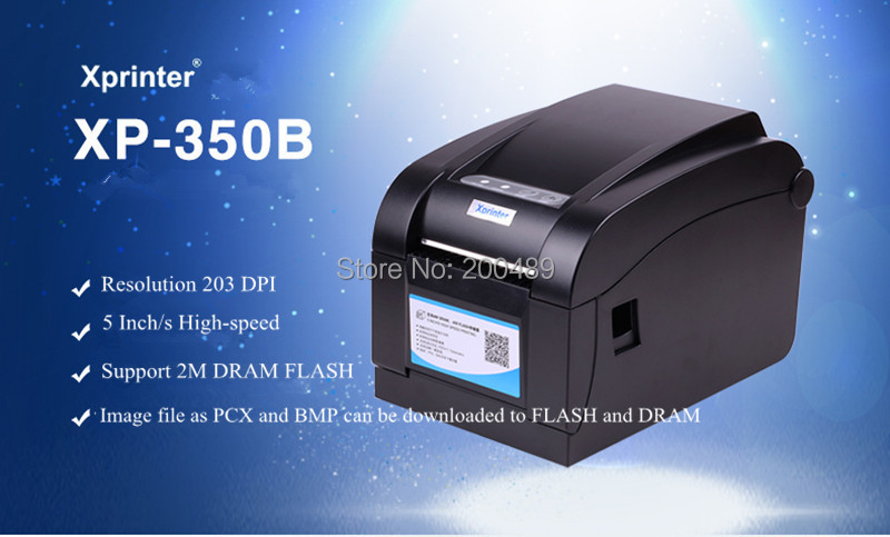 Direct Thermal Line 3~5Inch/Sec USB port Barcode Label Printer, bar code printer Thermal Barcode Printer XP-350B(China (Mainland))