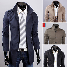 2015 New Arrival Autumn And Winter Trench Coat Men Jacket Fashion Business Casual Long Coat Single-Breasted Coat M-XXL(China (Mainland))