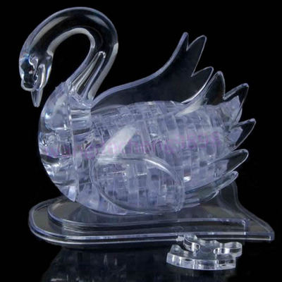 J35 Free Shipping 3D Crystal Puzzle Jigsaw Model DIY Swan IQ Toy Gift Souptoy Furnish Gadget(China (Mainland))