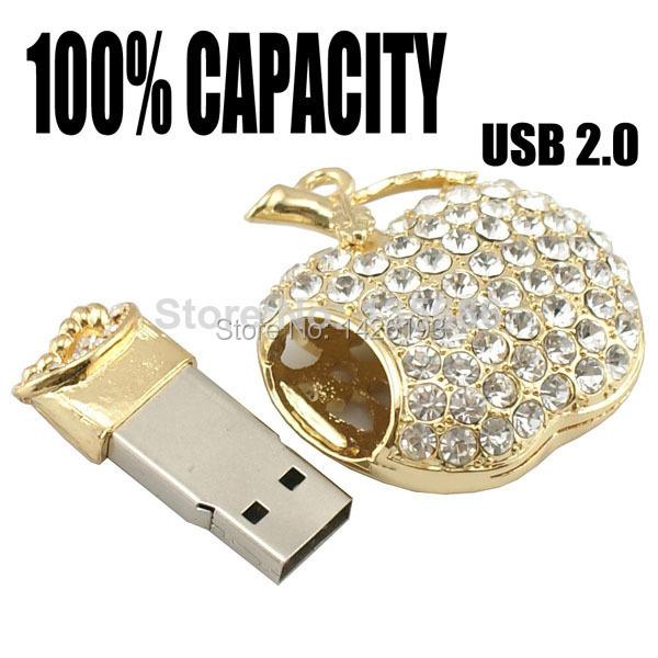 2015 Bling Diamond Metal USB Flash Drives U Disk Storage Pen Drive USB 2.0 Memory Stick Disk 2GB 4GB 8GB 16GB 32GB 64GB Pendrive(China (Mainland))