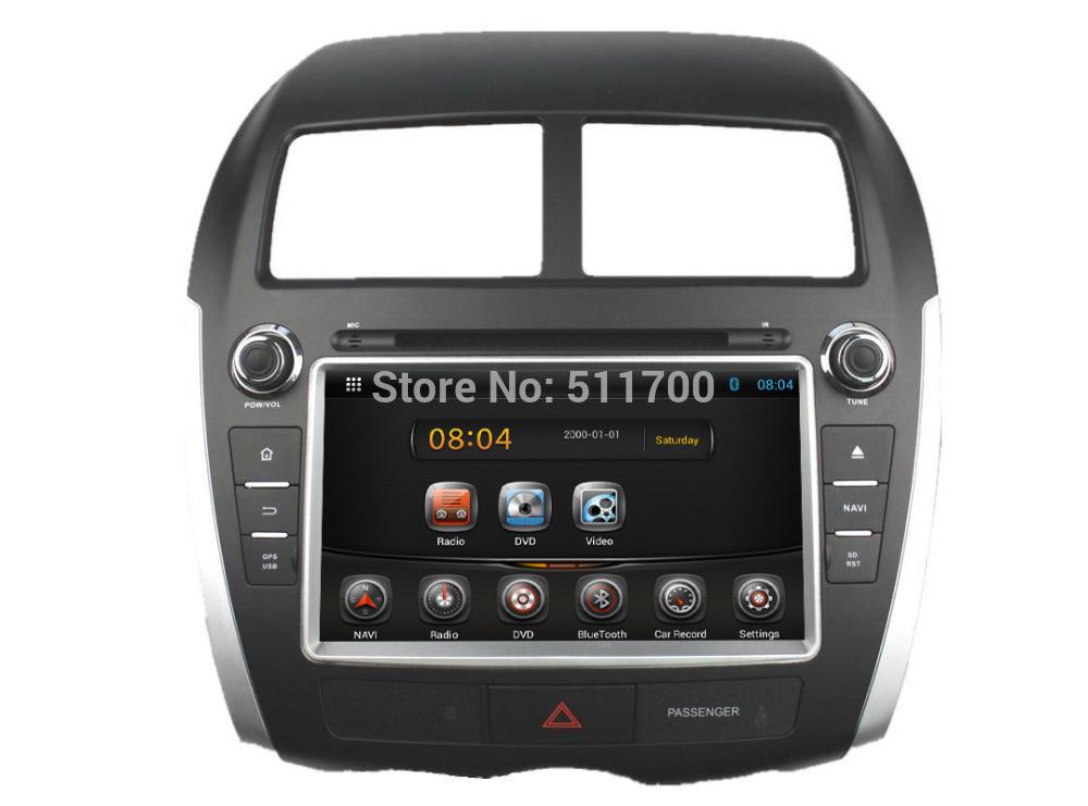 8 Inch 2 Din Car Stereo For Mitsubishi ASX(2010-2013),Android 4.4 DVD Player Quad Core 1.6G CPU 16G Flash Radio GPS Navigation(China (Mainland))