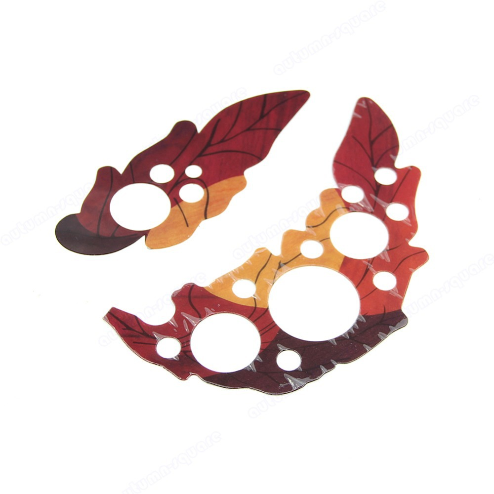 B39 New Pair Of Leaf Design Guard Plates Pickguard Scratch Plate For Acoustic Guitar(China (Mainland))