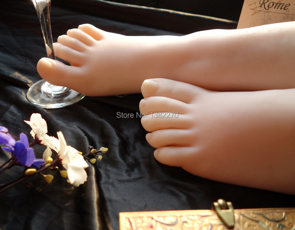 Newest 36 Size Asian Girls Foot Clones Feet Worship Fetish Foot Fetish Jobs Toys Mannequin Real Skin Free Shipping