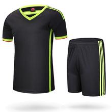 Soccer jersey set short-sleeve set paintless football jersey football training services jersey football jerseys boy sports wear(China (Mainland))