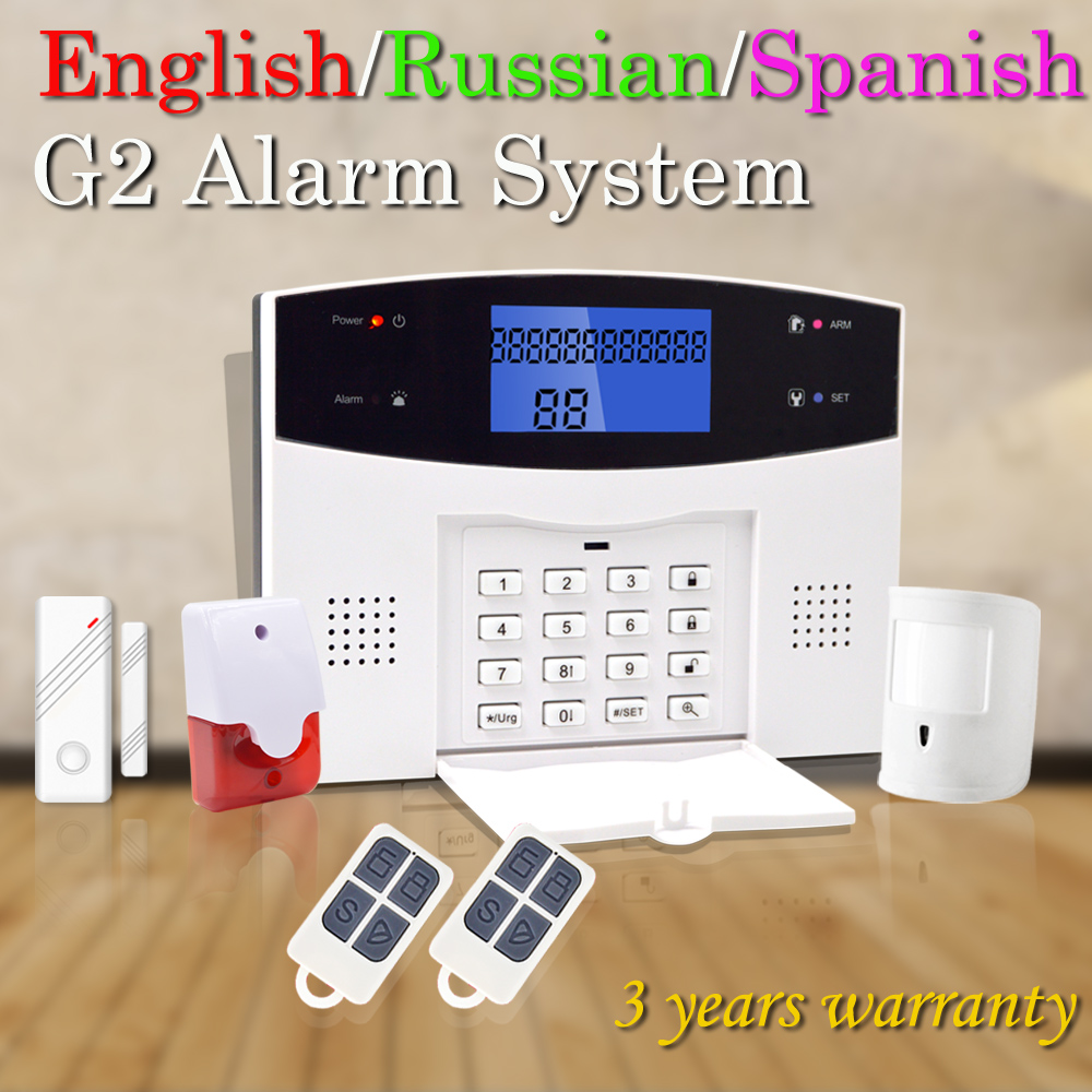 Free Shipping Home Burglar Security GSM Alarm System 850/900/1800/1900 Wireless Signaling Motion Sensor Siren Alarm Smart Home(China (Mainland))