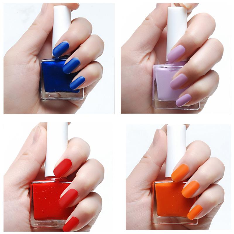 12ml Black White Color Matte Nail Polish Lasting Shine Liquid Vernis A Ongle Nail Art Pen 19 Colors Nail Beauty(China (Mainland))
