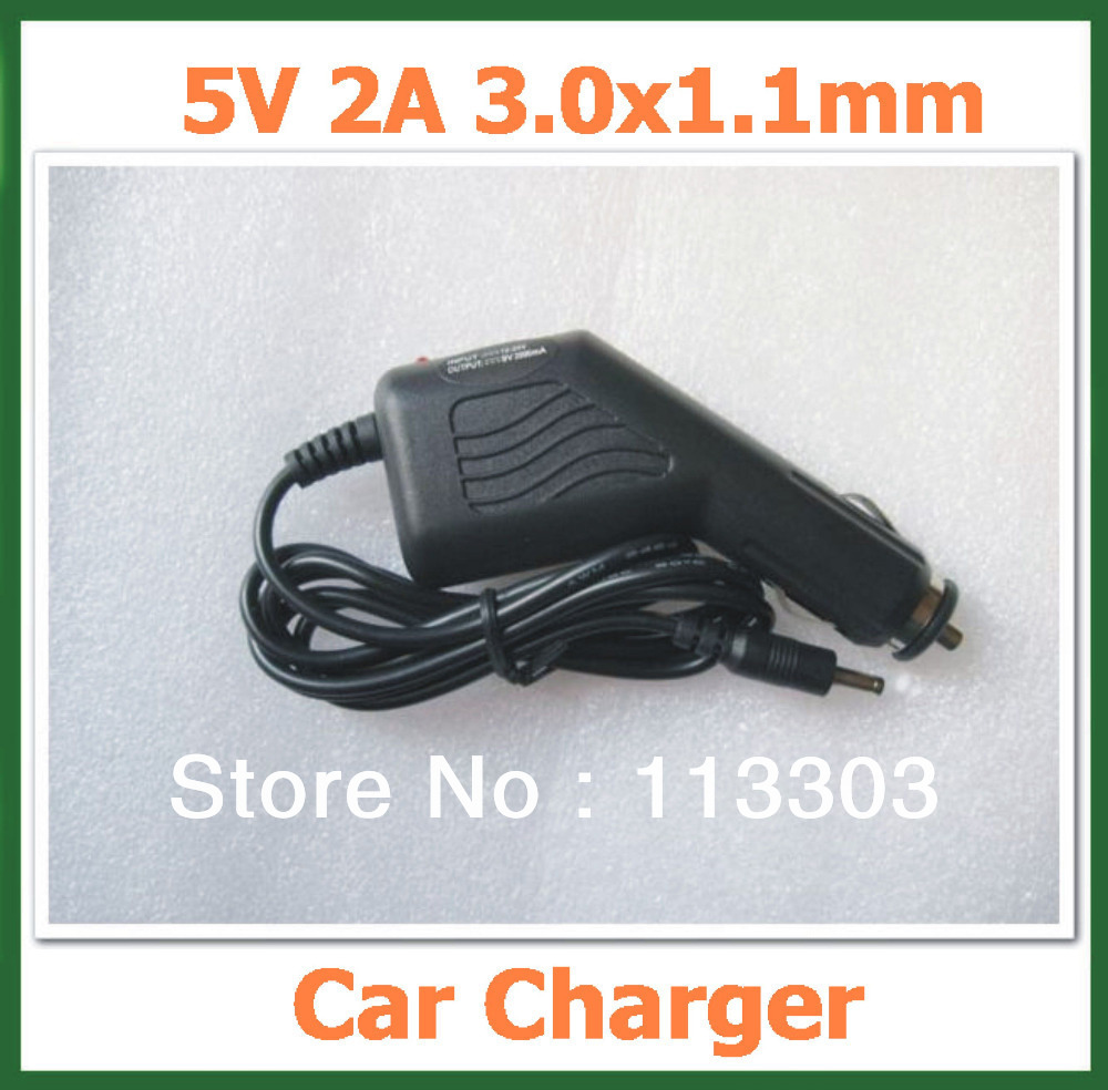 5V 2A DC 3.0x1.1mm Car Charger for Tablet PC Huawei MediaPad 7 Ideos S7,S7-Slim,S7-301U,S7-301W Adapter(China (Mainland))