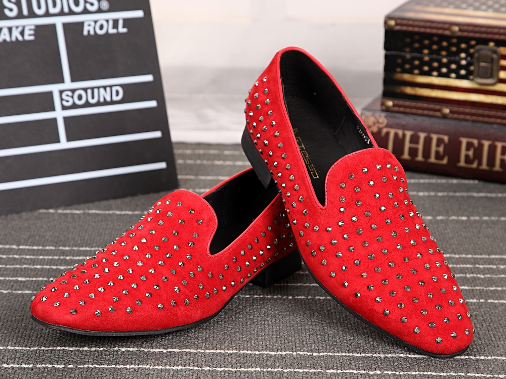 Здесь можно купить  Red Black Rivets Boat Loafers Shoes Flats Casual Mens Formal Shoes Nubuck Leather Big Size 46  Red Black Rivets Boat Loafers Shoes Flats Casual Mens Formal Shoes Nubuck Leather Big Size 46  Обувь