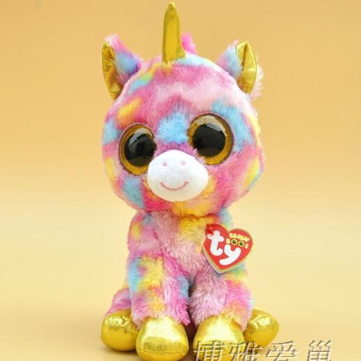 2015 Hot Ty Beanie Boos Big Eyes Small Unicorn Plush Toy Doll Kawaii Stuffed Animals Collection Lovely Children's Gifts(China (Mainland))