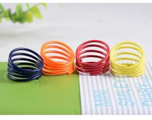 Europe helical spring fluorescent color candy color fine jewelry wholesale rings ring(China (Mainland))