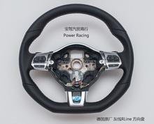 Gray Stitch Multifunction MFSW R line Steering Wheel With Paddles For VW New POLO Golf MK6 Jetta Mk5 Tiguan Passat B6(China (Mainland))