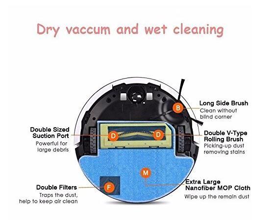 Original ILIFE V7S Efficient HEPA Filter 5 pcs of Robot Vacuum Cleaner accessories