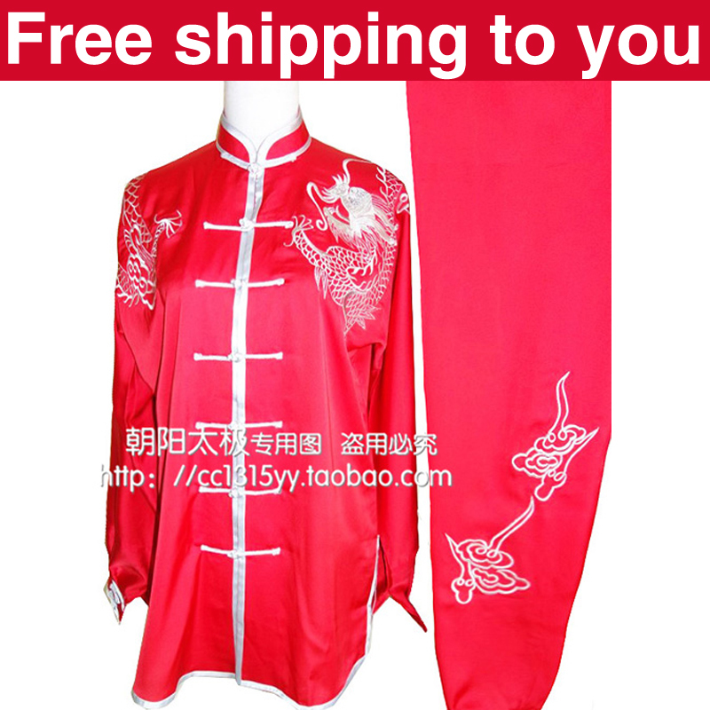 Free shipping Chinese Tai chi clothing/Martial arts set/taiji performance suit/wushu uniform/dragon embroidery/men/boy/children<br><br>Aliexpress