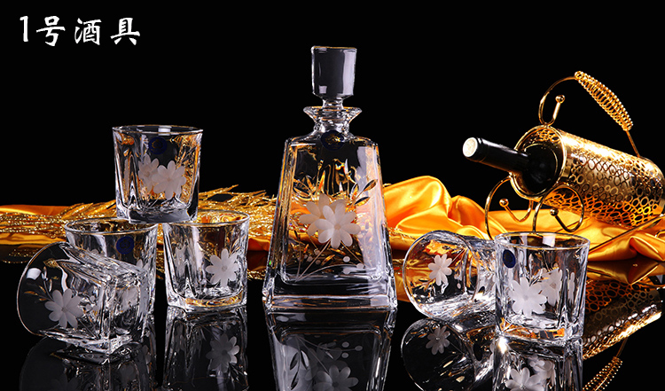 Czech high-grade crystal wine set crystal wine glass cup creative Whiskey Cup wedding gifts(China (Mainland))