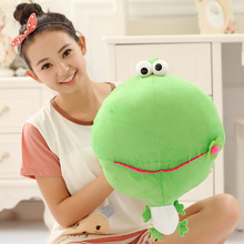 2016 Cute Cartoon Frog With Big Head Plush Toy Super Soft Pillow PP Cotton Stuffed Frogs Dolls Kids Toys Birthday Presents