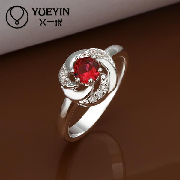 R334 2015 Fashion ruby jewelry 925 sterling silver ring fine jewelry rings for women anel feminino