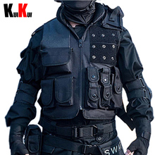 SWAT/FBI Military Army Tactical Vest Mens Outdoor Field Defend Training Waistcoat Sleeveless Jacket Men Multi-pockets Vest(China (Mainland))