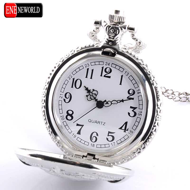 New Fashion Soviet BOLSHEVIK Quartz Pocket Watch Man Classic Vintage Antique Silveer Necklace Steampunk Pendant Gift
