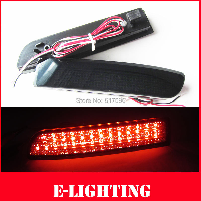 Black Smoke Lens LED Rear Bumper Reflector Light DRL for Toyota Previa RAV4 Alphard Scion xD(China (Mainland))