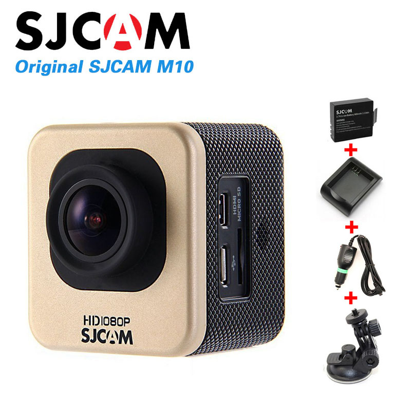 Original SJCAM M10 Sports Action Camera Full HD 1080P Waterproof+Car Charger+Holder+Extra 1pcs battery+Battery Charger+Monopod<br><br>Aliexpress