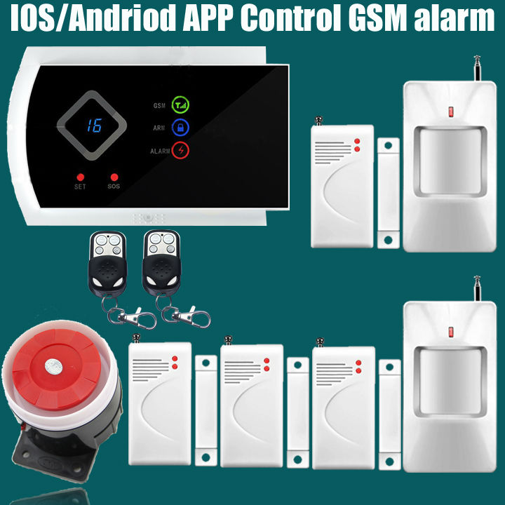 product DHL Free Shipping!NEW Home Security LED display G10A Wireless GSM SMS alarm system Supported <font><b>APP</b></font> Control Calling Modify Zone