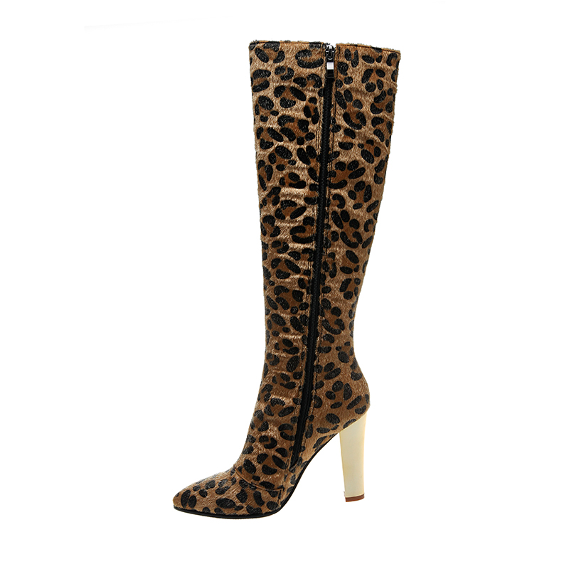 Фотография women shoes knee high gladiator sandals boots  fashion sexy leopard  winter boots   Martin boots  Nubuck 2016new zapatos mujer