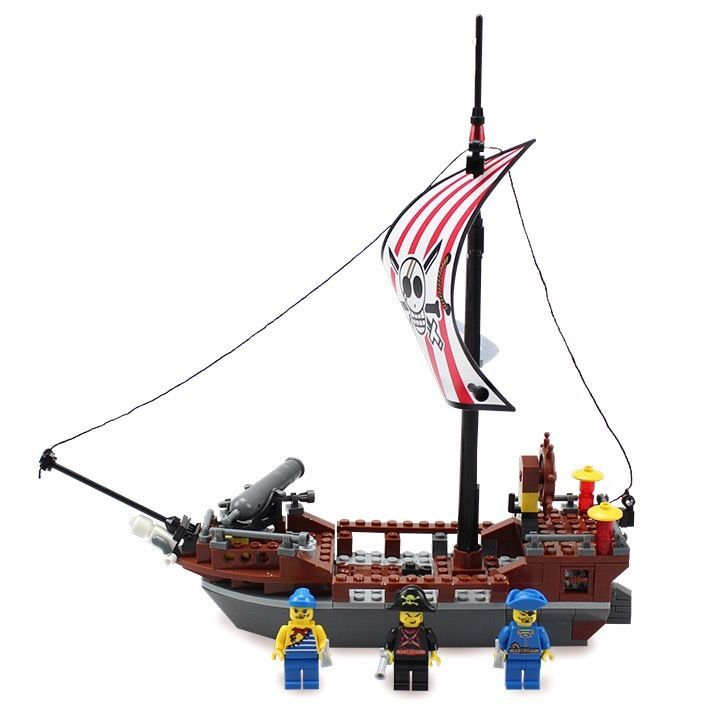 Pirate Caravel Sailing Ship Building Block Toy-in Blocks from Toys ...